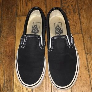 Black slip on Vans